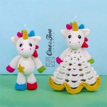One and Two Company - Nuru the Unicorn Lovey & Amigurumi
