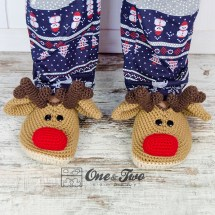 One and Two Company - Reindeer Booties - Adult Sizes