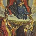 荣耀的圣母与捐赠者、圣彼得和圣奥古斯丁 by 罗伯特·康平