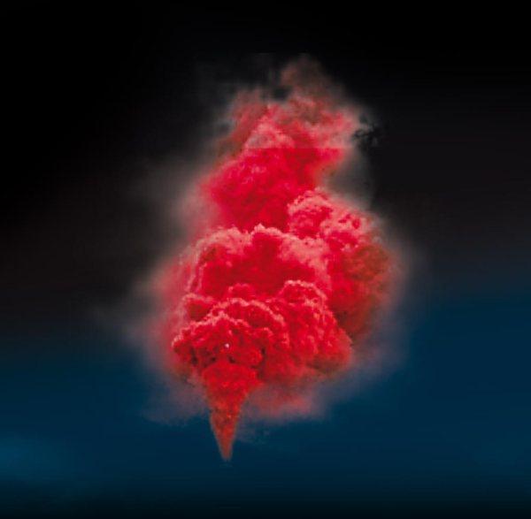fumigène rouge
