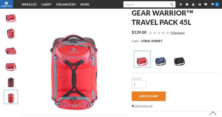0beed4532f1d Eagle Creek gear warrior 45. Shop for the Eagle Creek Gear Warrior Travel  Pack 45L