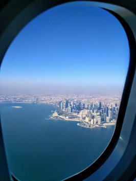 Qatar Airways Window View-Doha, Qatar