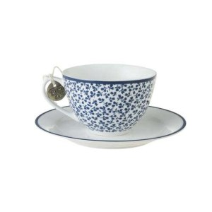 Laura Ashley Floris Cappuccino Cup and Saucer