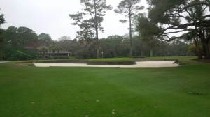 I was able to avoid the monstrous bunker on No. 13 to get up and down for my first par of the day.
