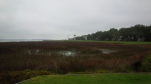 """It was """"breezy"""" all day, until I reached the 18th tee, where a stiff 30-40 mph wind was blowing straight at me from the iconic Lighthouse."""