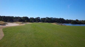The golf course turns and marches to the Sea at the 9th hole.  The view of Palmetto Dunes' extensive lagoon system from here was a harbinger of things to come.
