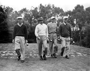 I wonder at what age these giants no longer carried their own golf bags?