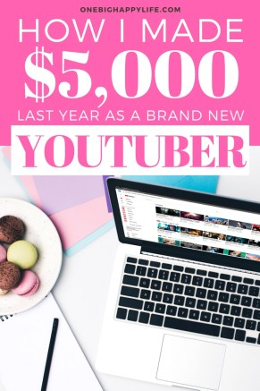 How I Made $5,000 from a Brand New Youtube Channel