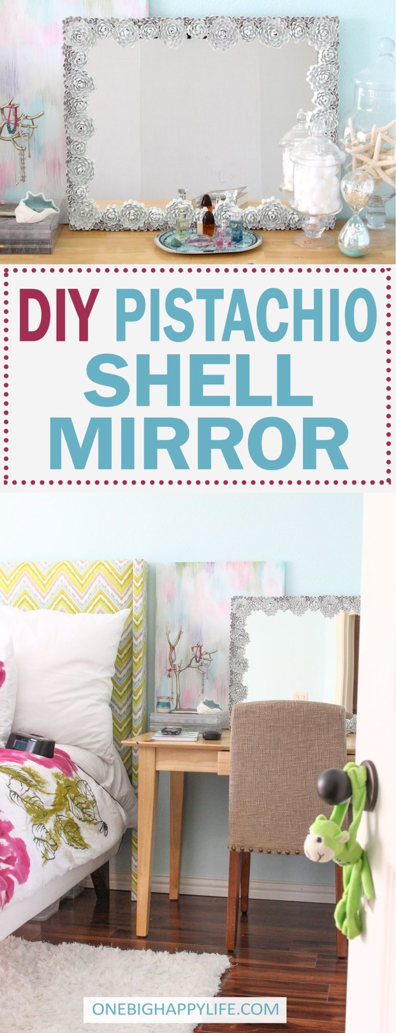 DIY Mirror Frame White