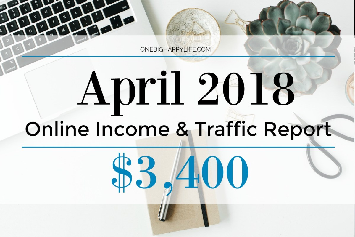 April 2018 Traffic and Income Report - $3,400