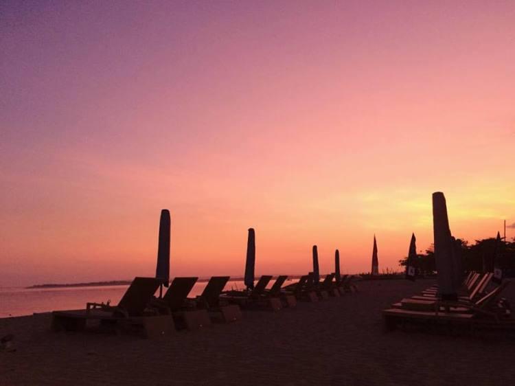 Sunset at Sanur Beach, Bali