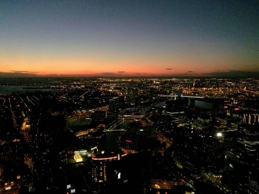 Eureka Skydeck city view Melbourne
