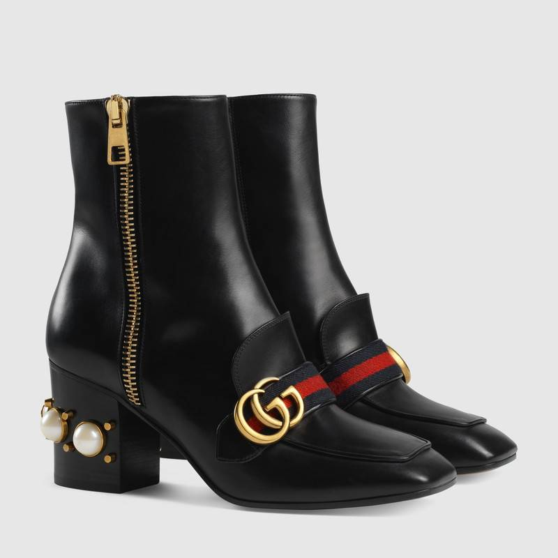 Gucci Ankle Boots with Pearl Heel
