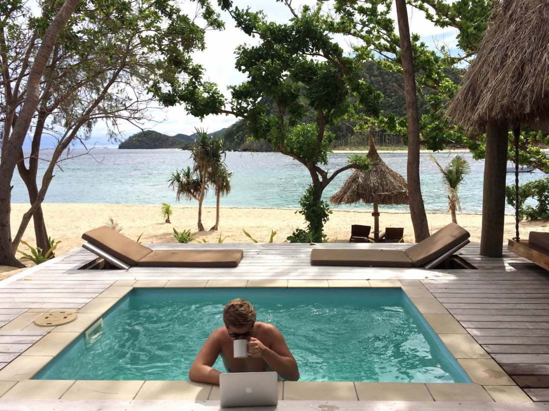 Private plunge pool Paradise Suite Fiji