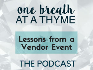 Lessons from a Vendor Event (#10)