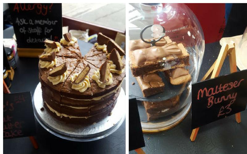 Brownie cake and malteser brownie cake