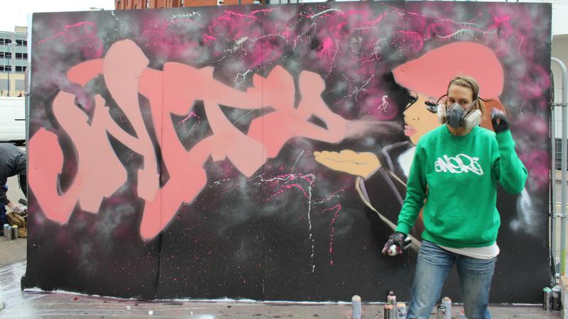 Graffiti artist Unity
