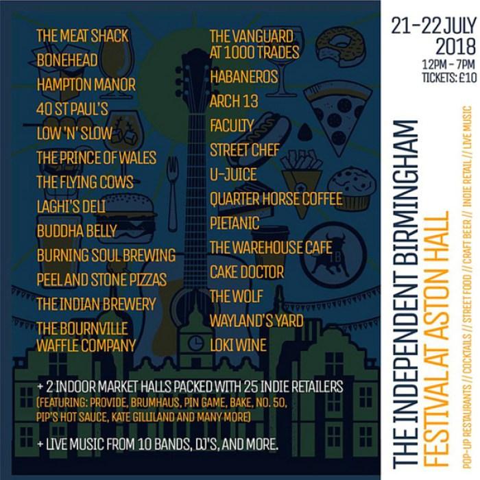Independent Birmingham Festival Line-up