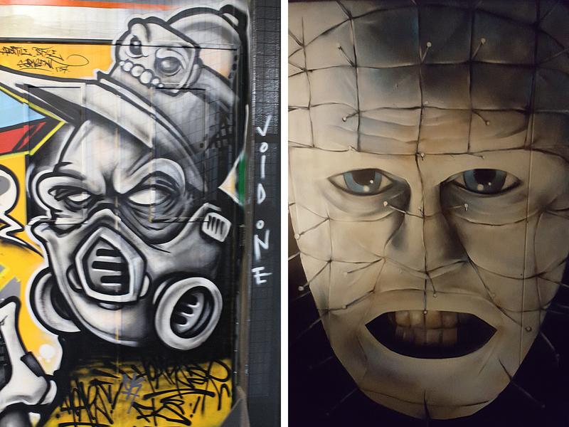 Void One Graffiti and Hellraiser art