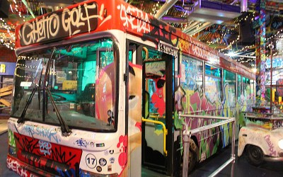 Ghetto Golf Bus Birmingham