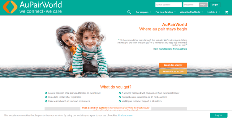 au pair matching site guide