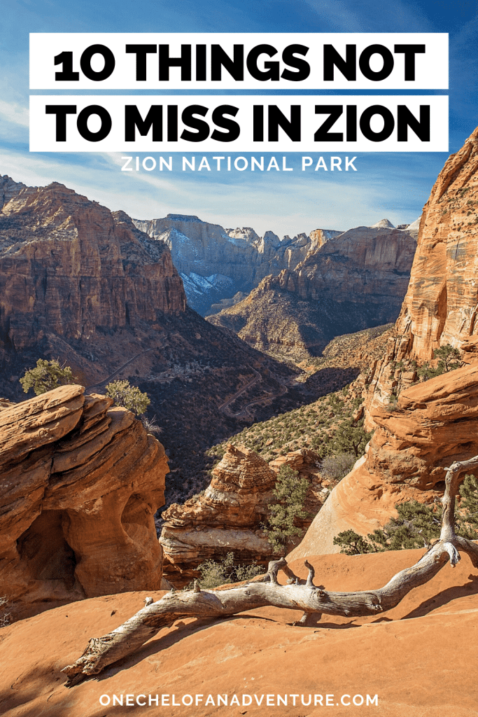 things not to miss in Zion Canyon