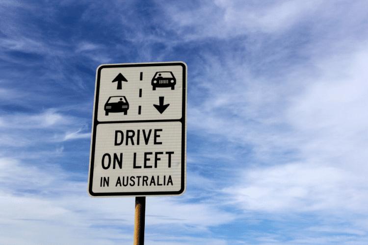 driving on the opposite side in australia