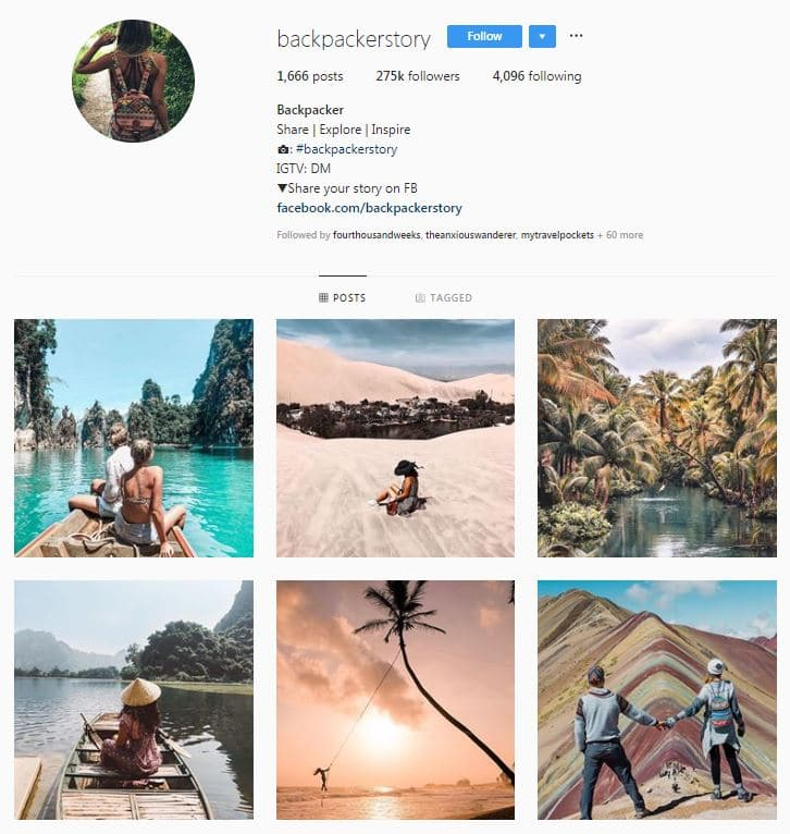 Instagram Accounts That Feature Travel photos-backpackerstory