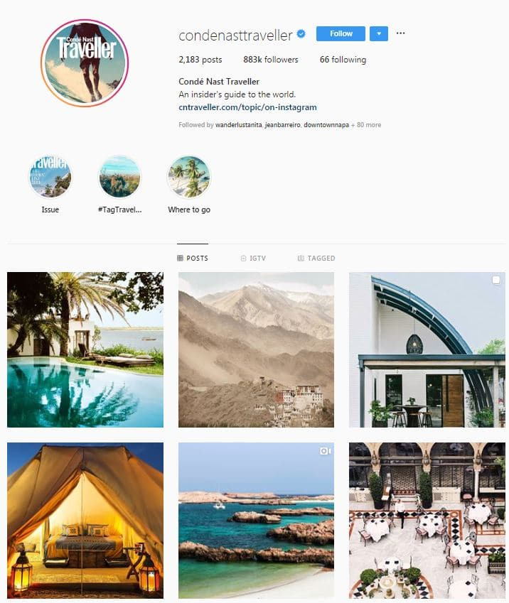 Instagram Accounts That Feature Travel photos- condenastetrave