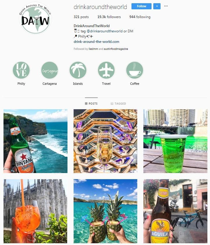 Instagram Accounts That Feature Travel photos- drinkaroundtheworld