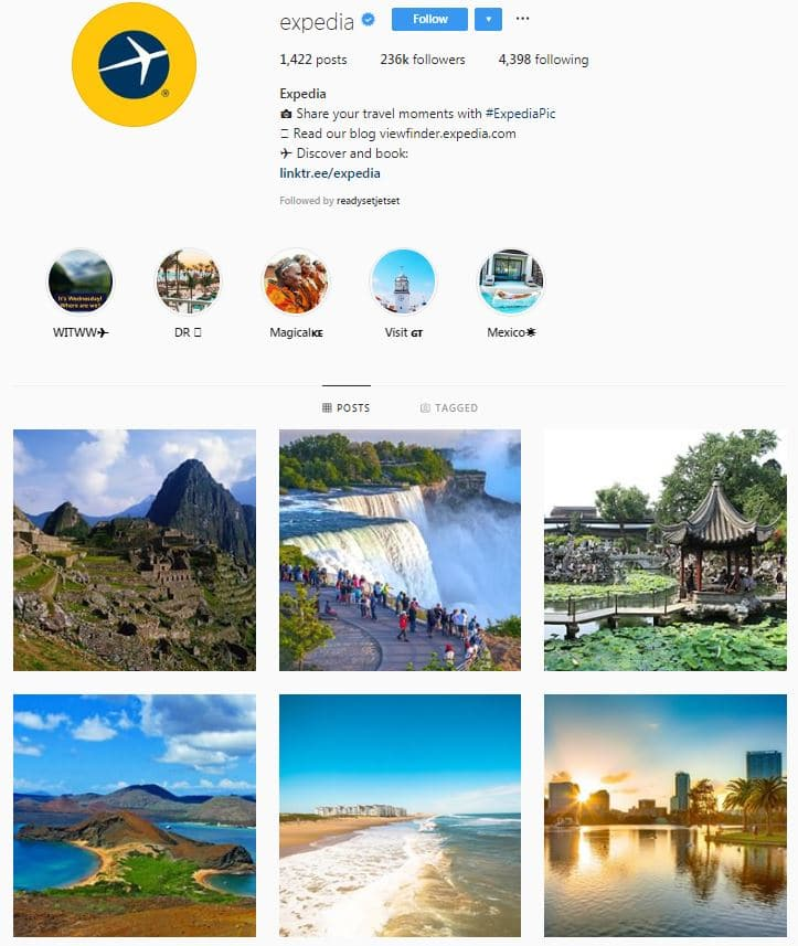Instagram Accounts That Feature Travel photos- expedia