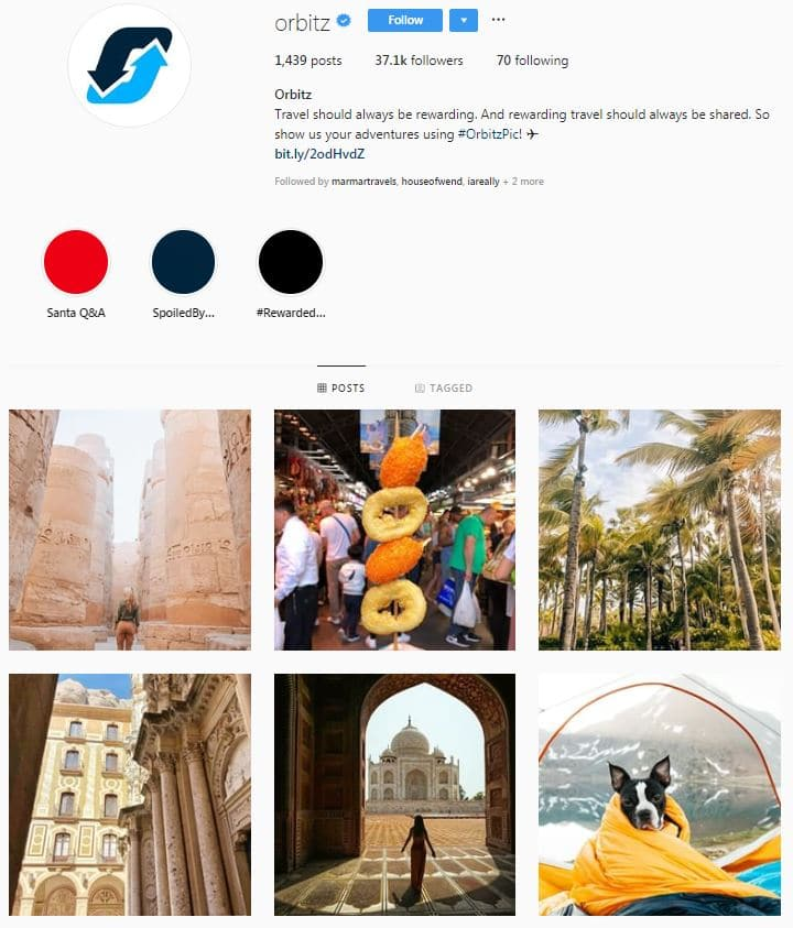 Instagram Accounts That Feature Travel photos- orbitz