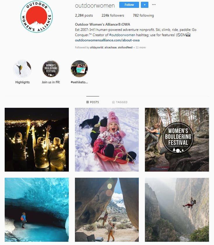 Instagram Accounts That Feature Travel photos- outdoorwomen