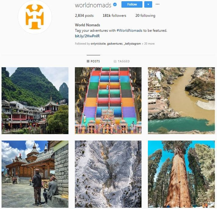 Instagram Accounts That Feature Travel photos- worldnomads