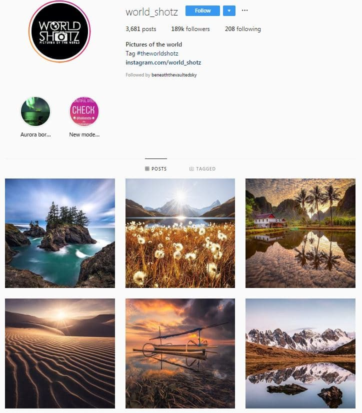 Instagram Accounts That Feature Travel photos-worldshotz