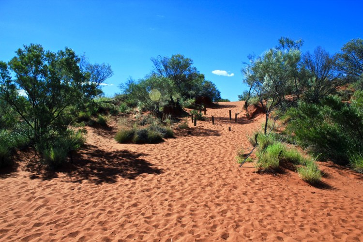 red sand in Outback