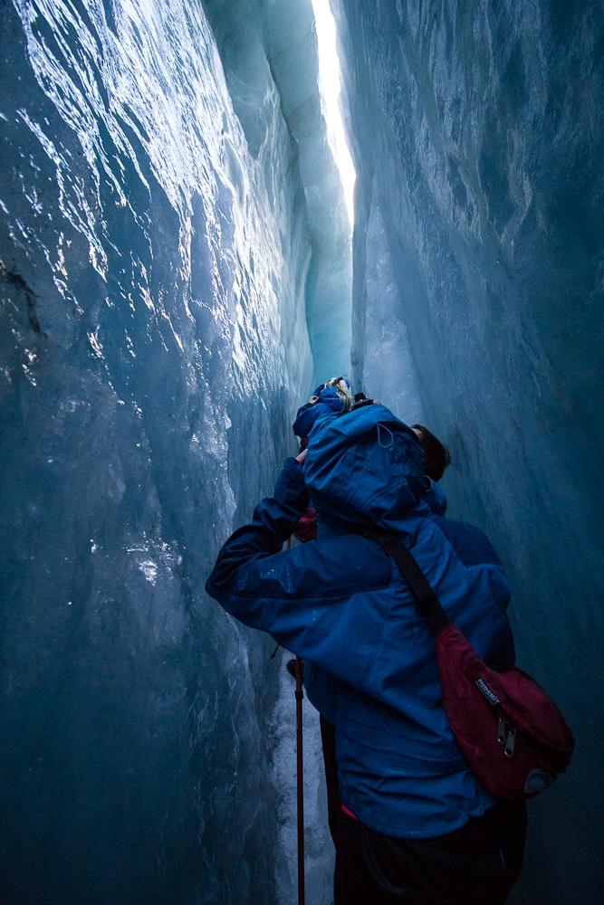 Ice crevasses Franz Josef Glacier