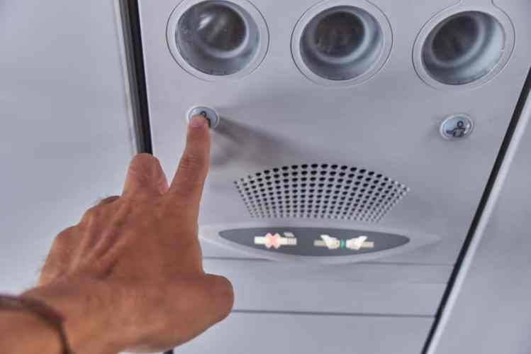 call button on airplane
