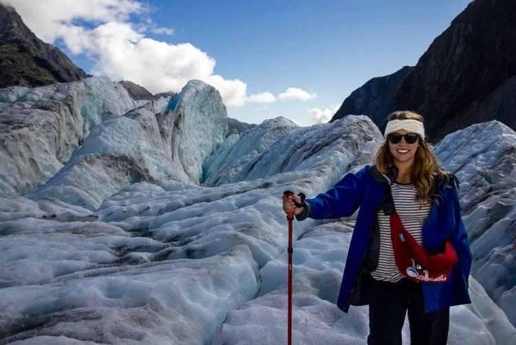 franz josef glacier on road trip of new Zealand south Island