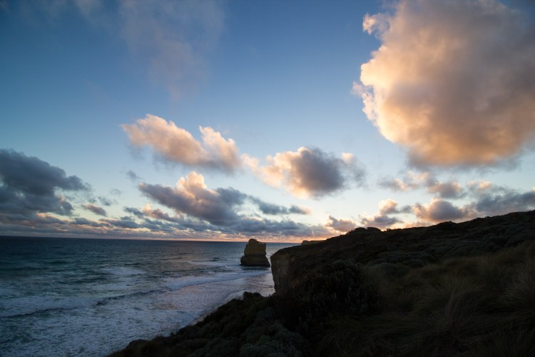 The Great Ocean Road tour at sunset