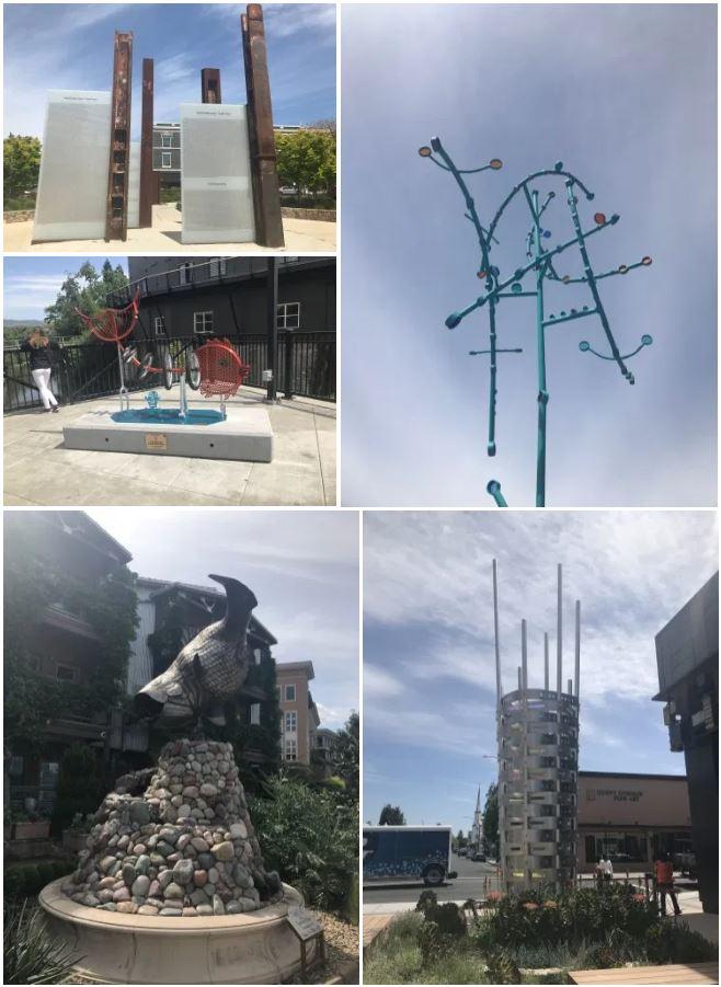 Napa Art Walk installations