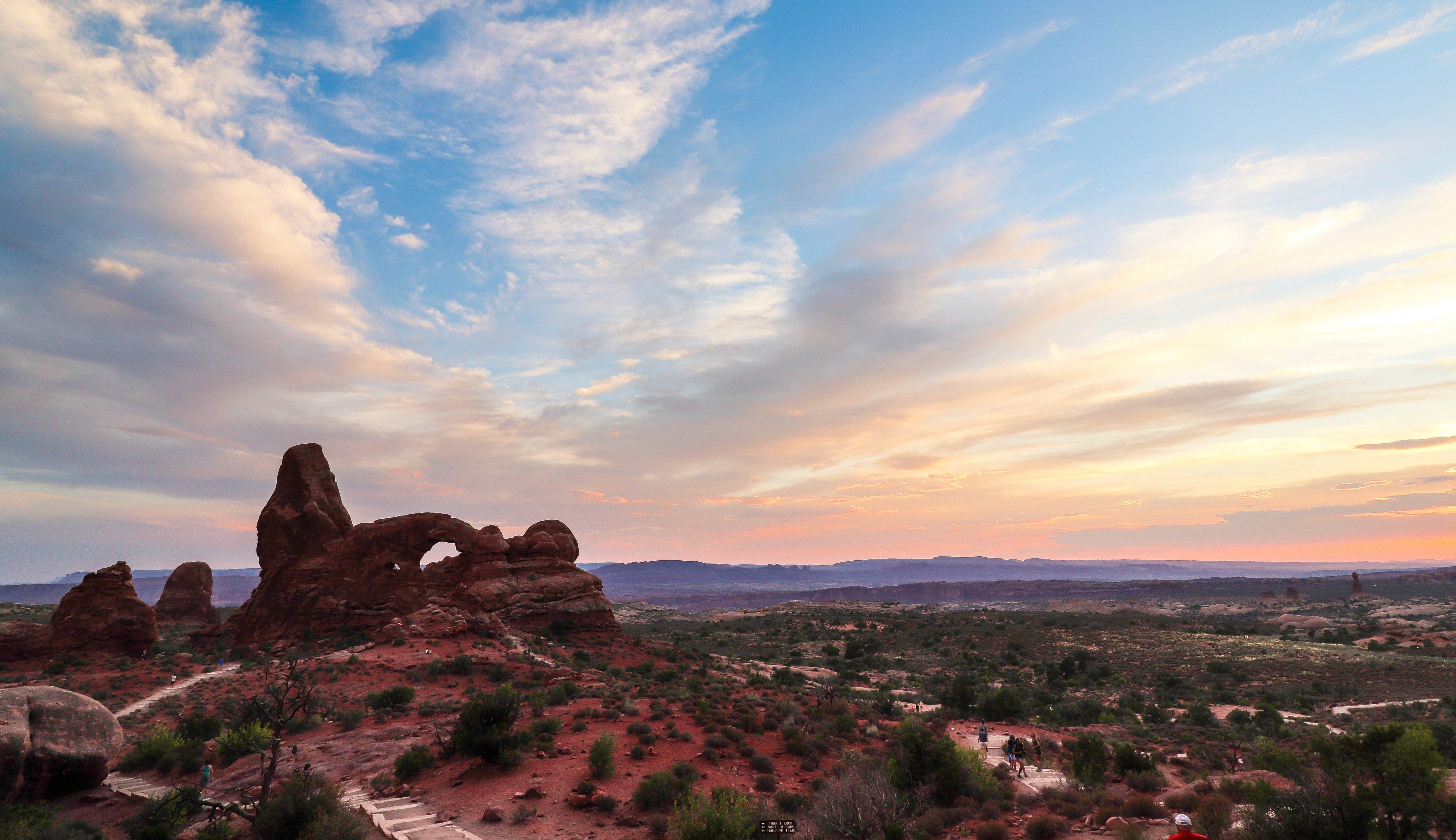 Sunset Photos from Visiting Arches National Park in Utah