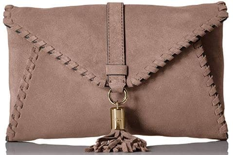 MILLY Astor Suede Whipstitch Clutch | Best Purses for Fall on Amazon Prime