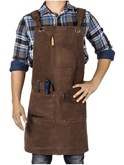 Gifts for men Waxed Canvas Heavy Duty Shop Apron With Pockets