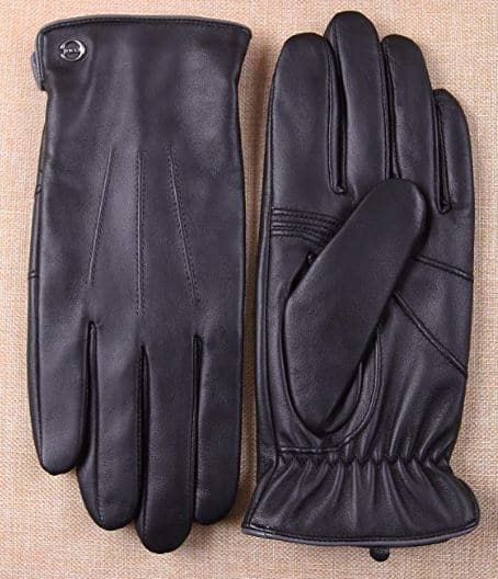 Mens Gift Guide: Men's Touchscreen Italian Nappa Leather Driving Gloves