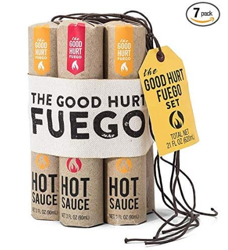 Gift Guide: The Good Hurt Fuego: Sampler Pack of 7 Different Hot Sauces