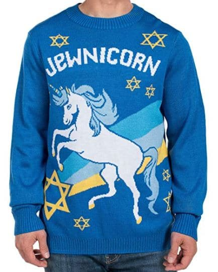 Jewnicorn Hanukkah Sweater