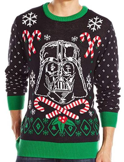 Best Ugly Christmas Holiday Sweaters on Amazon: Star Wars Darth Vader Holiday Sweater