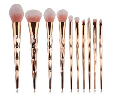 Gifts for women 10pcs Unicorn Gold Makeup Brush Set