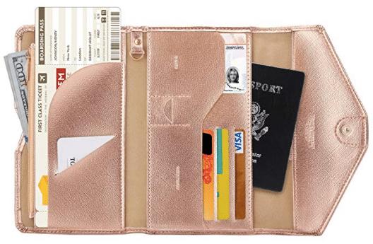gifts for women: Zoppen RFID Blocking Passport Wallet